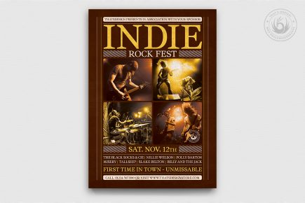Indie Rock Flyer Template V8