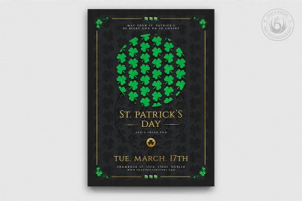 Saint Patrick's Day PSD Flyer Template V11