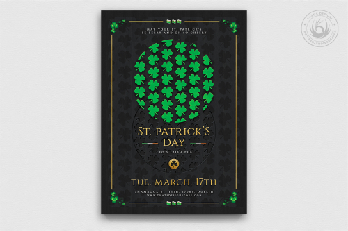 Saint Patrick's Day PSD Flyer Template V11