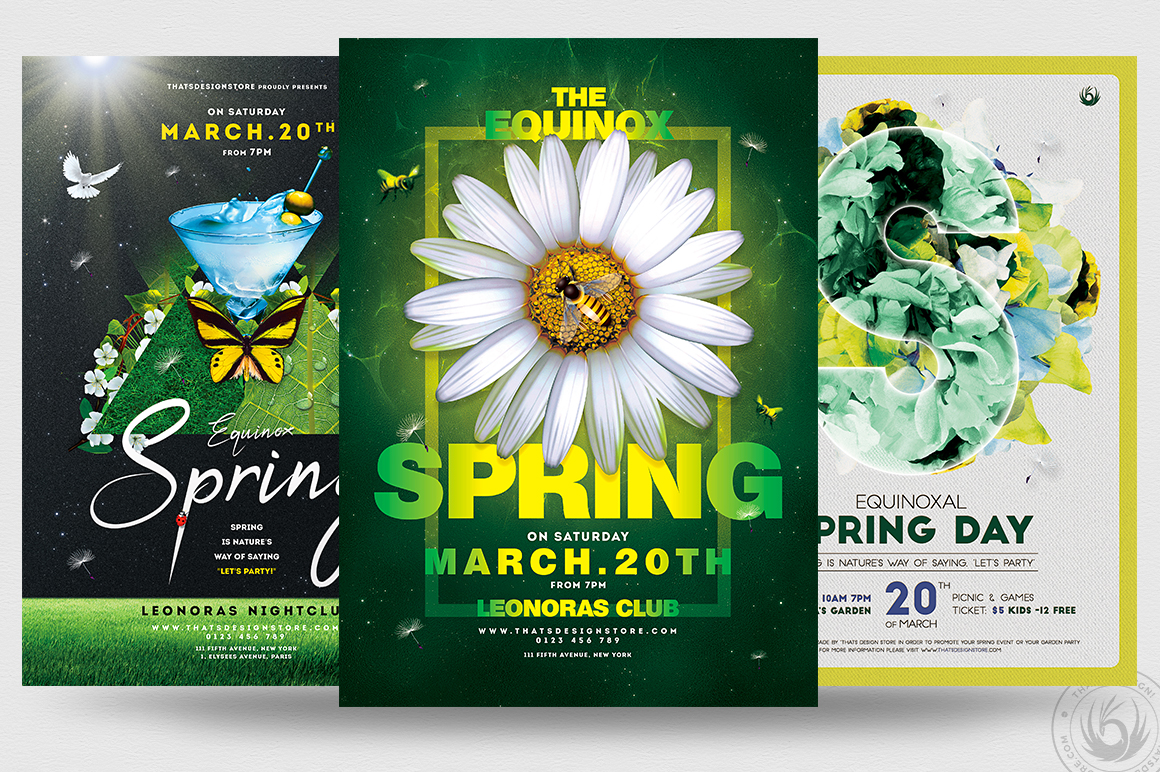 Spring Day PSD Flyer Templates Bundle