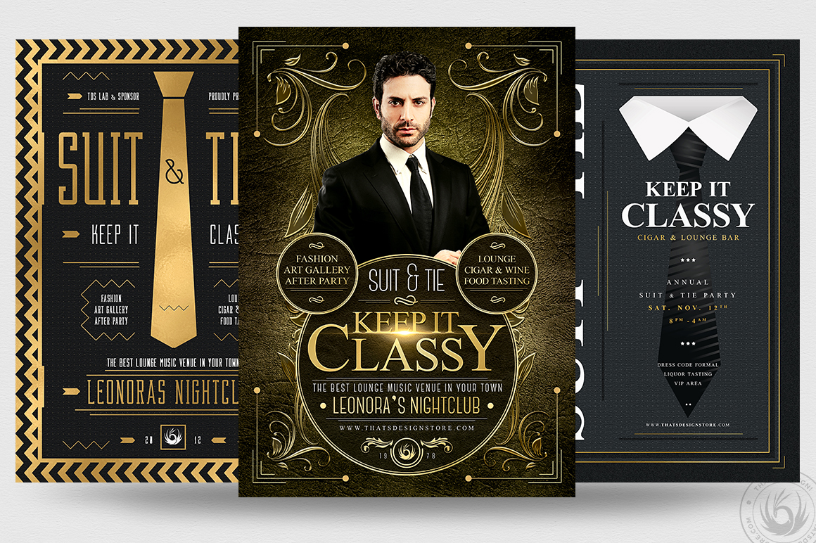 Suit and Tie Flyer Templates