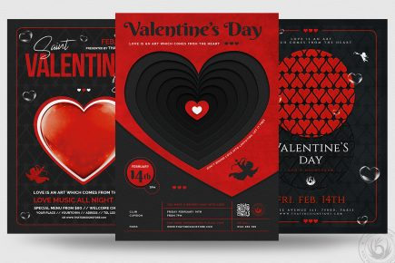 Valentine's Day Flyer Bundle V3