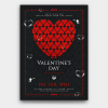 Valentine's day flyer Template psd 22