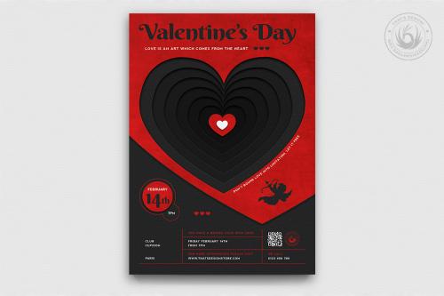 Valentine's Day Flyer Template PSD V23