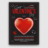 Valentine's Day Flyer Template PSD V24