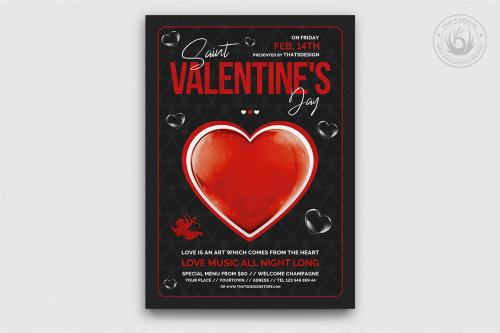 Valentine's Day Flyer Template PSD V24