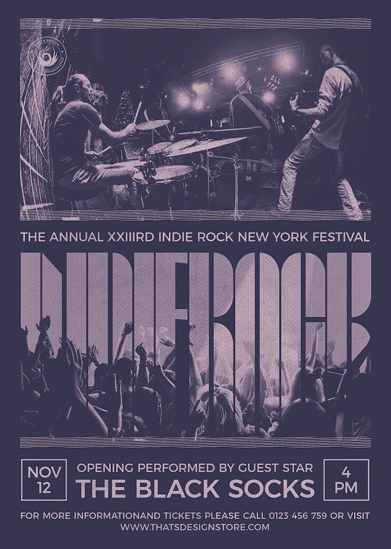 Indie Rock Flyer Template PSD V9