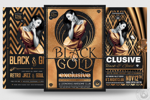 Exclusive Party Flyer Templates psd download Bundle V2