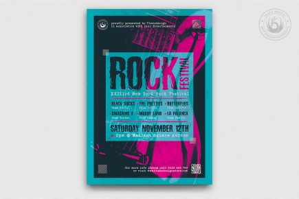 Indie Rock Flyer Template psd design download V10
