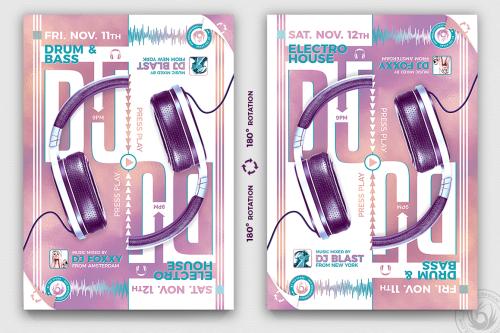 Special Dj Flyer Template PSD design download V8