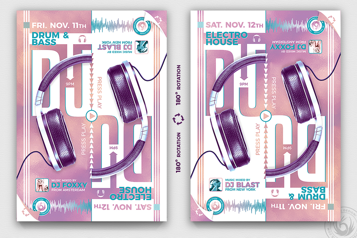 Special Dj Flyer Template PSD design download V8