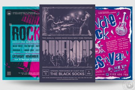 Indie Rock Flyer Bundle V3