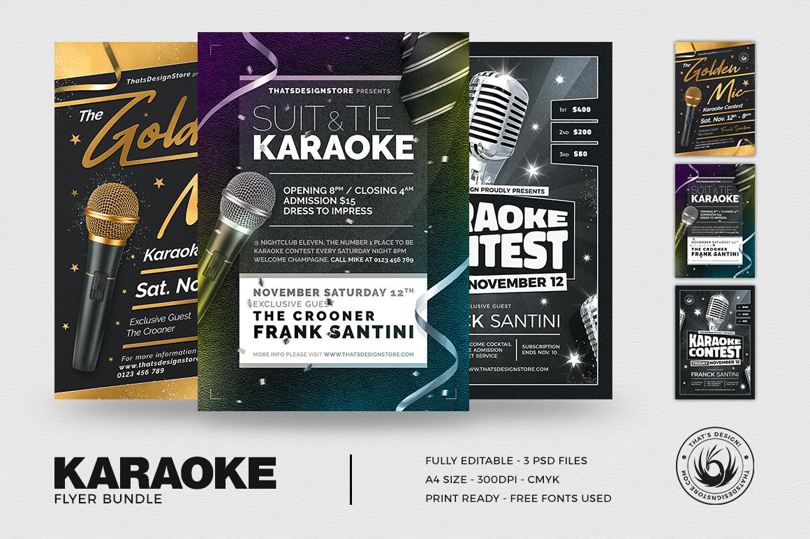 Karaoke Flyer Bundle V3