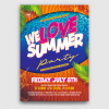 Beach Party Flyer Template V8
