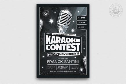 Karaoke Flyer Template V12