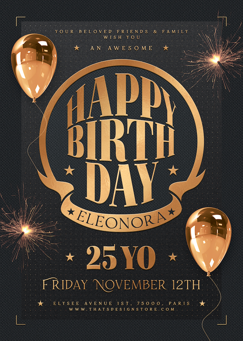 Birthday Party Flyer Template V2