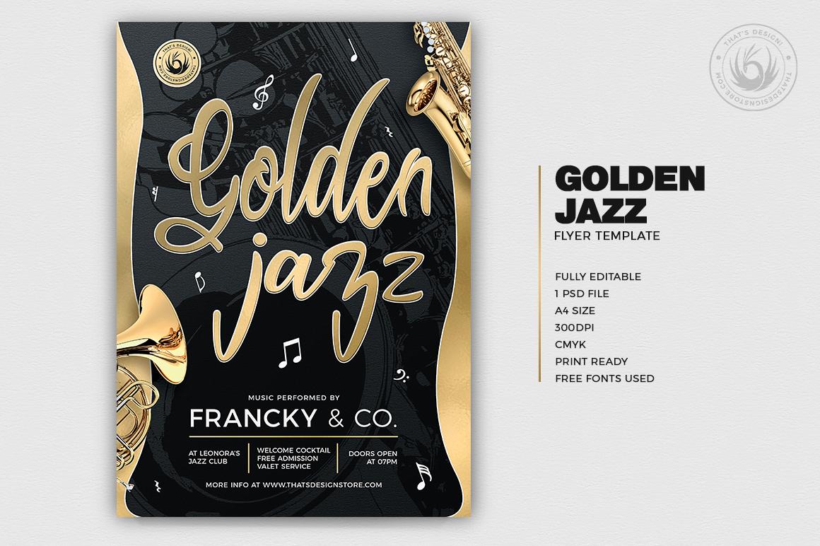 Golden Jazz Flyer Template V2