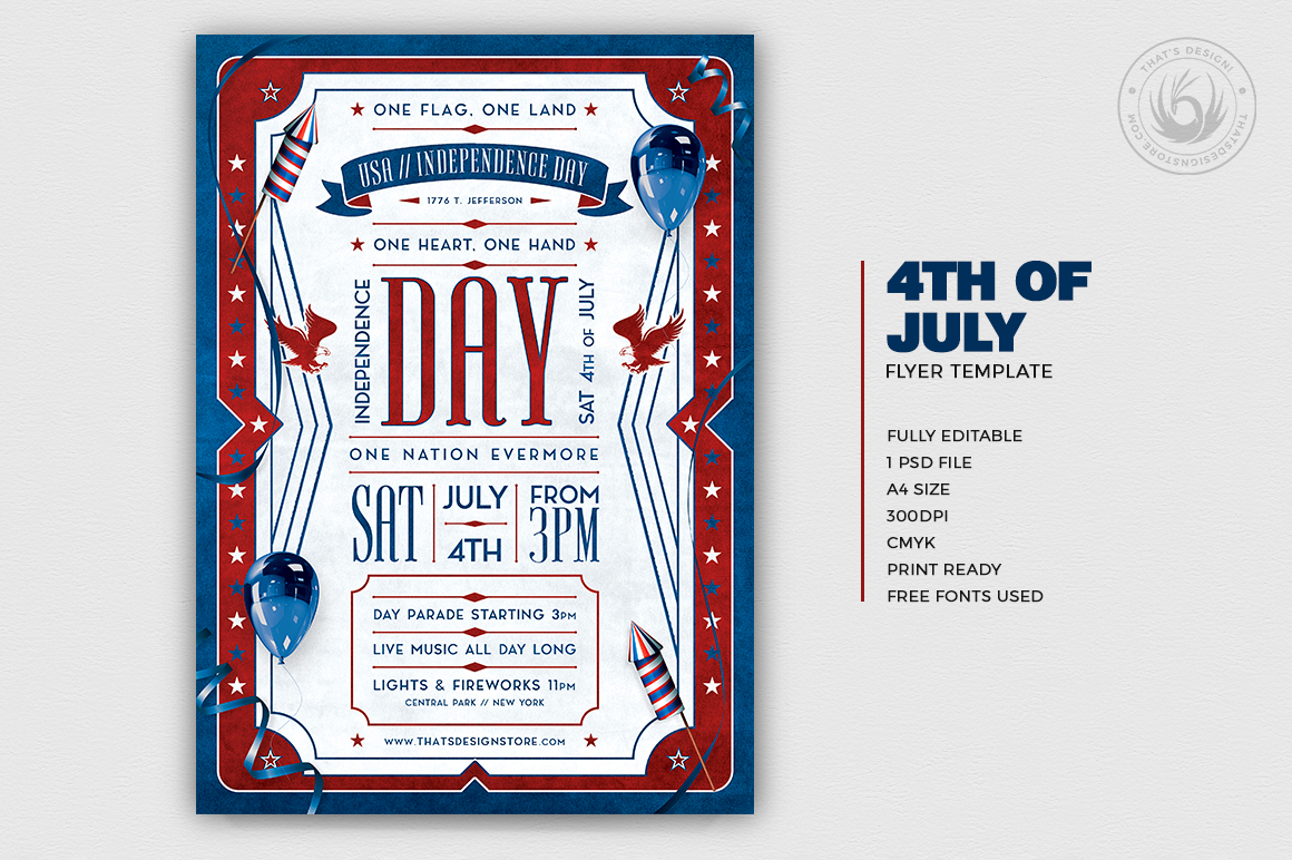 Independence Day Flyer Template V4