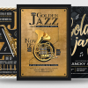 Golden Jazz Flyer Templates Bundle