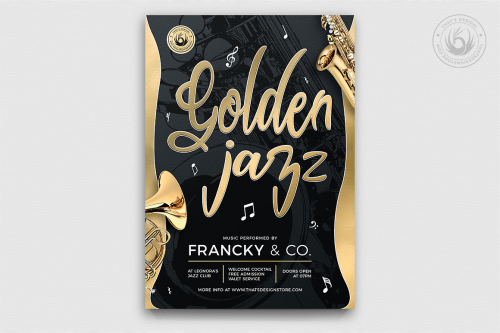 Golden Jazz Flyer Template V2