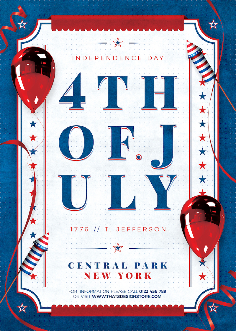 Independence Day Flyer Template PSD V3