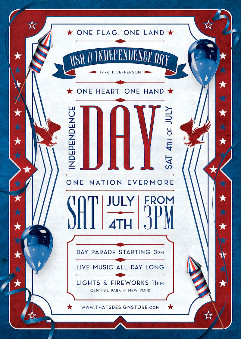 Independence Day Flyer Template PSD download V4