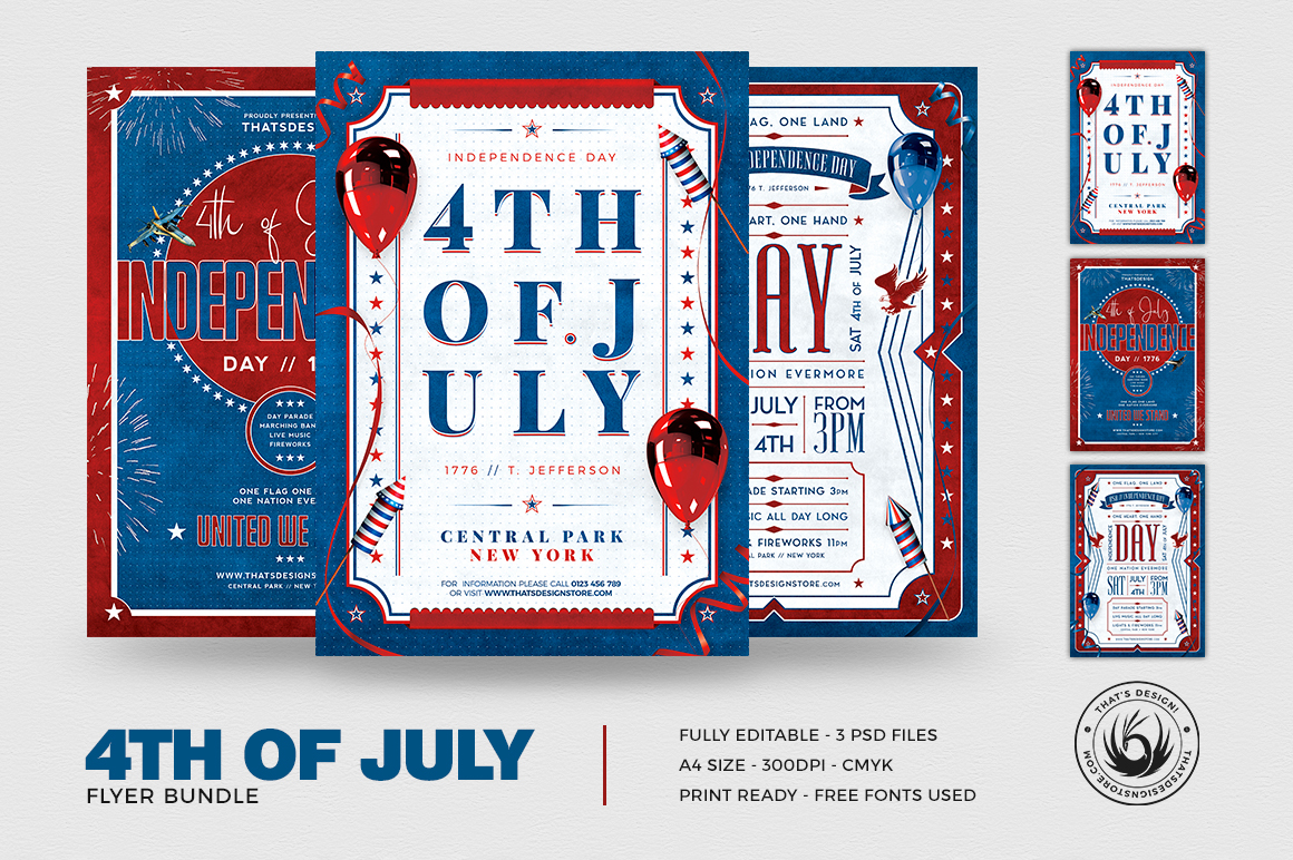 Independence Day Flyer Templates July 4th