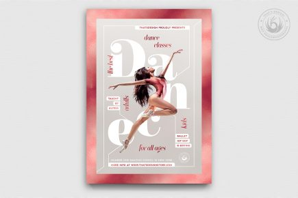 Dance Classes Flyer Template psd download