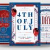 Independence Day Flyer Templates, July 4th PSD posters