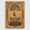 Wanted Western Party Flyer Template, farwest psd poster