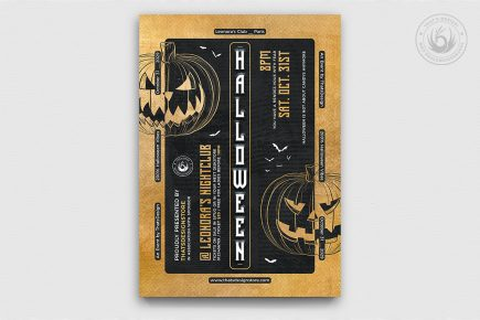 Halloween Flyer Template Psd download V27