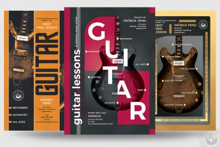 Guitar Lessons Flyer templates