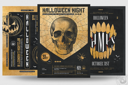 Halloween Flyer Templates psd design for photoshop