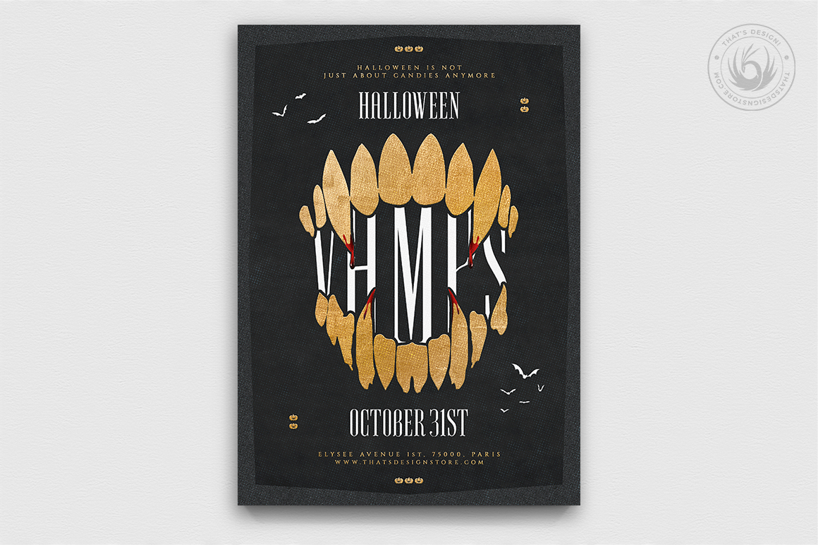 Halloween Flyer Template psd download poster
