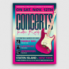 Indie Fest Flyer Template V9 Concert, Rock Band posters