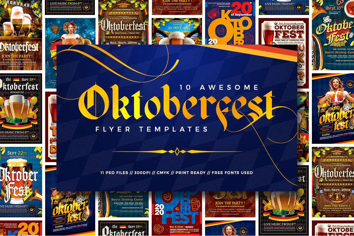 Oktoberfest Flyer PSD Templates Bundle