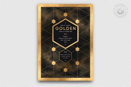 Minimal Black & Gold Flyer Template V21