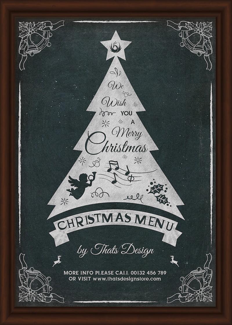 Christmas Eve Flyer Menu Template PSD Download V5