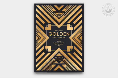 Minimal Black & Gold Flyer Template V22