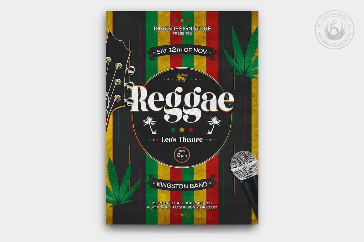 Reggae Music Flyer Template
