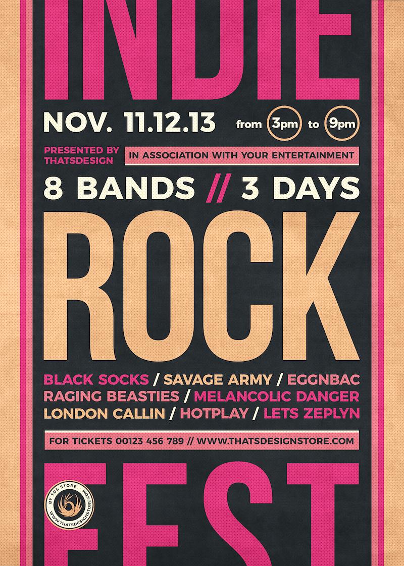 Indie Rock Flyer Template V12