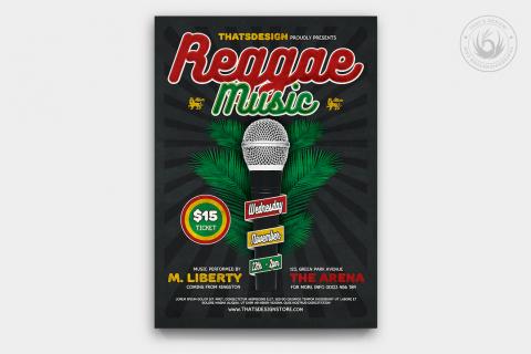 Reggae Music Flyer Template V3
