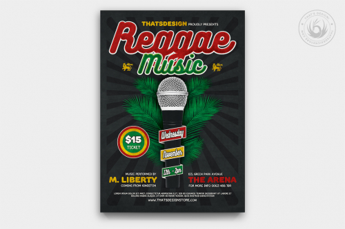Reggae Music Flyer Template V3